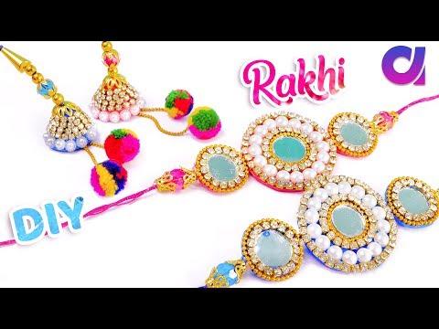 How to make rakhi at home /Rakhi making for Bhaiya- Bhabhi   Raksha Bandhan 2018   Artkala
