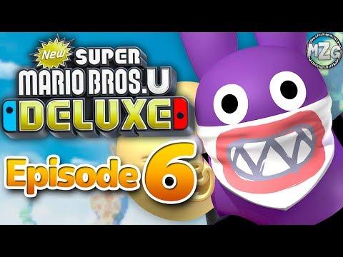 New Super Mario Bros. U Deluxe Gameplay Walkthrough - Episode 6 - Rock-Candy Mines 100%! Nabbit!