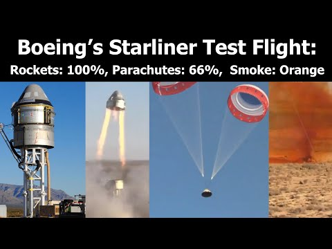 Parachute Fails To Deploy During Boeing's Starliner Abort Test.