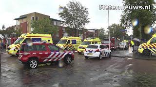 Vier bewoners naar ziekenhuis na grote brand zorgcentrum Zwolle