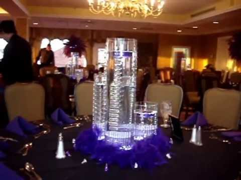 Floating Candle Centerpieces In Purple By Sweet 16