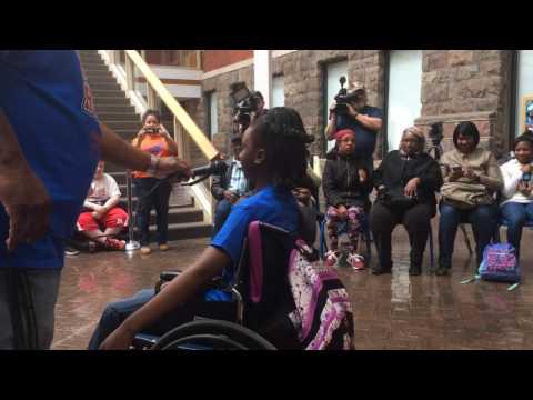 Doyle-Ryder Elementary honors Flint student Asia Mays
