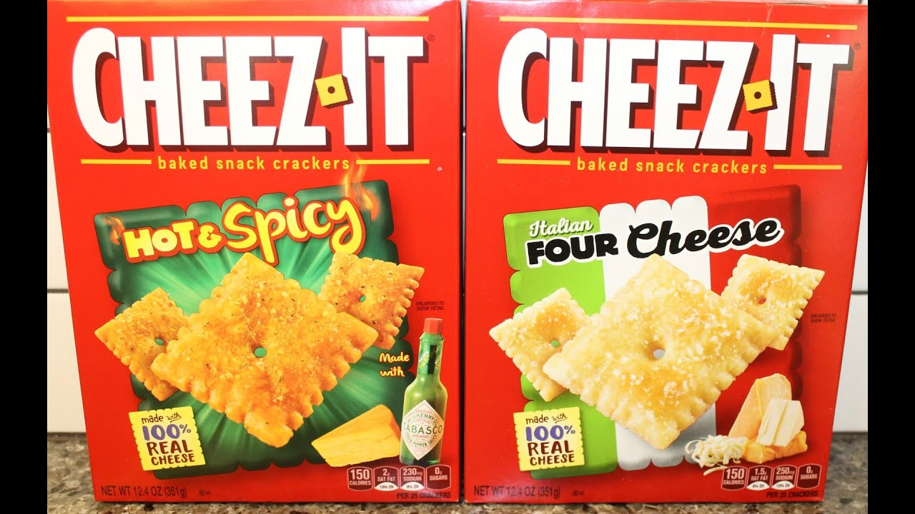CheezIt Hot Spicy and Italian Four Cheese Review YouTube