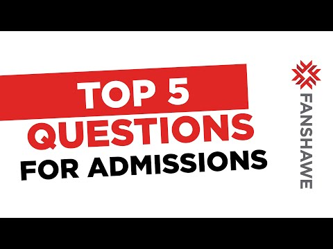 Top 5 Questions for Admissions