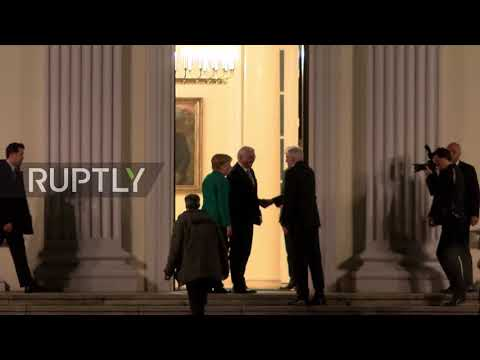 Germany: Leaders arrive at Bellevue Palace for coalition talks