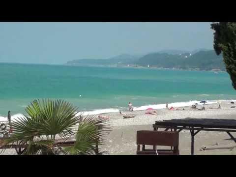 Пляж в Лоо. Видео из Райского уголка