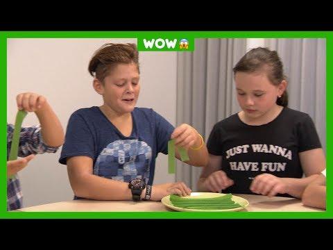 Kinderen testen snoep