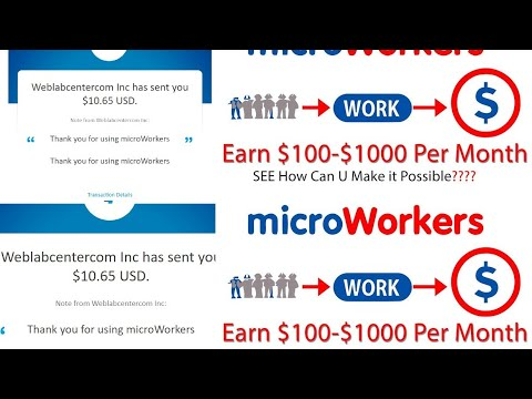 Download How to earn money online from microworkers up to $40 daily By completing simple tasks 💲💵