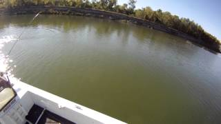 Fishing for northern pike on the missouri river