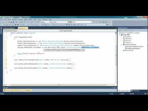 .NET Gadgeteer Tutorial - Camera and Touch Screen Drawing.wmv