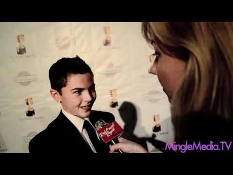 Logan Grove at the 39th Annual Annie Awards Red Carpet
