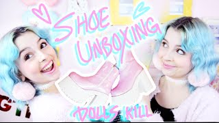SHOE UNBOXING | Dolls Kill Current Mood Boogie Boots!