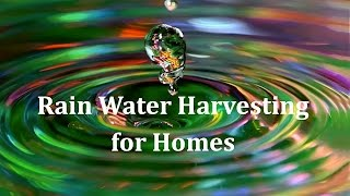 Rain Water Harvesting for Homes