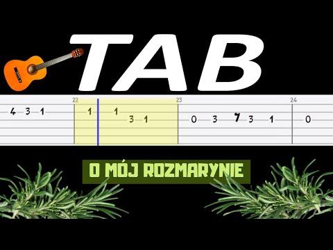 🎸 O mój rozmarynie - melodia TAB (gitara) 🎸