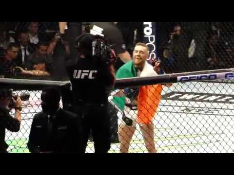 UFC 205 Conor McGregor Celebrates After KO Of Eddie Alvarez MSG Live