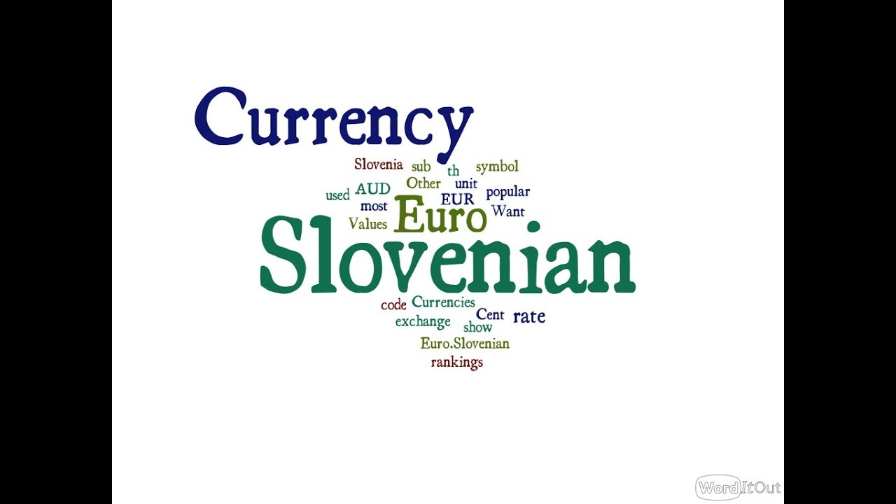Slovenian Currency Euro Youtube
