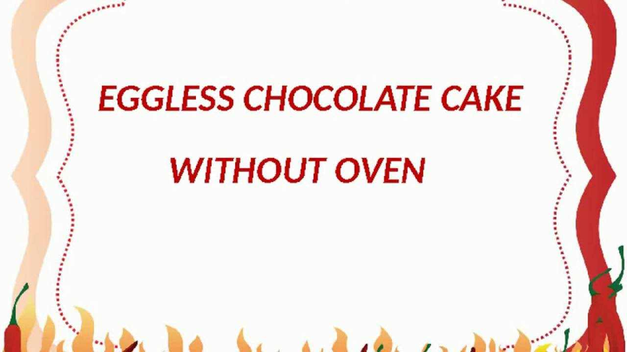 Eggless Chocolate Cake Without Oven - How to make cake in pressure ...