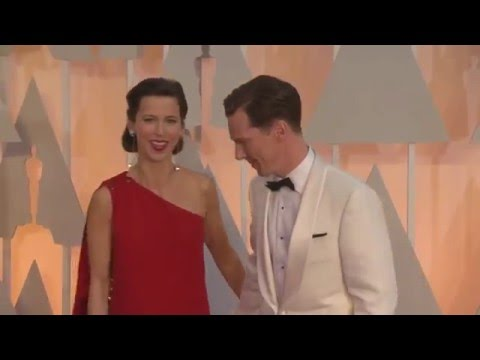 Sophie Hunter and Benedict Cumberbatch at the 87th Academy Awards, February 2015
