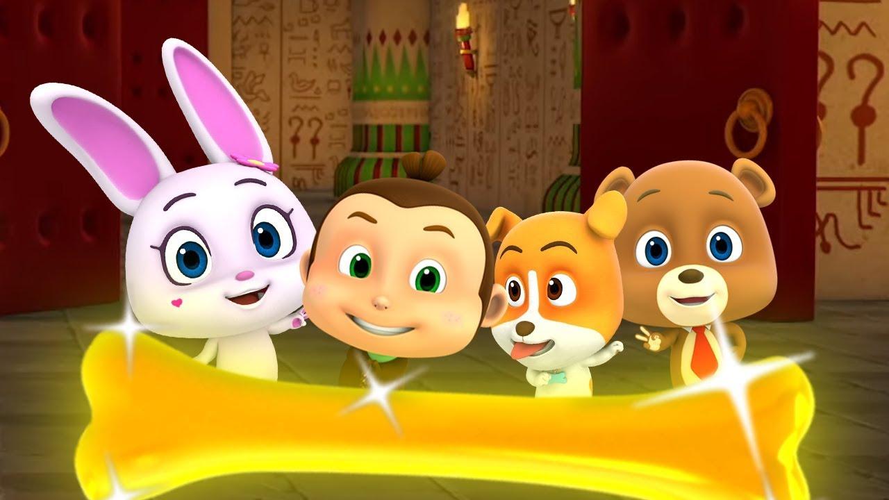 Săn xương vàng | phim hoạt hình vui nhộn cho trẻ em | Video cho trẻ em | Hunt for the Golden Bone