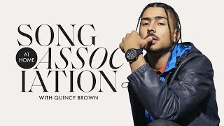 Quincy Brown Sings Drake, Mary J. Blige, and The-Dream in a Game of Song Association | ELLE