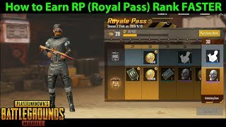 How to Earn RP (Royal Pass Rank) FASTER in PUBG Mobile - Which Game Mode is Fastest for the Mission?