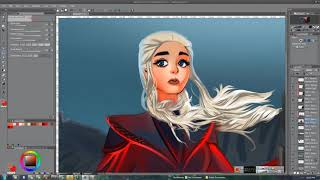 DAENERYS FAN ART WITH HUION KAMVAS GT-221 PRO
