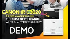Canon color copier iR C3020 demo |