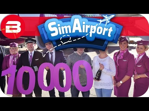 SIM AIRPORT Gameplay - 1,000 PASSENGERS!! Lets Play SIMAIRPORT Alpha #10