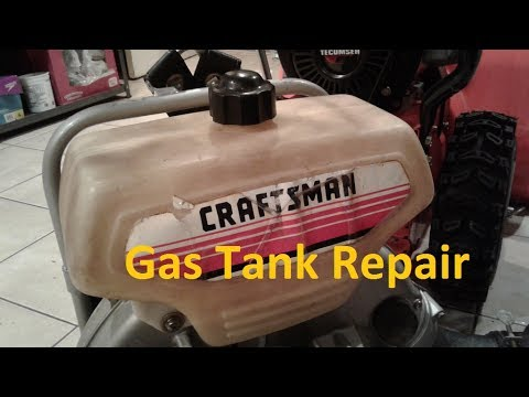 Plastic Gas Tank Repair Fast Easy Small Engine Fix