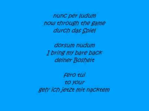 O Fortuna W/Lyrics