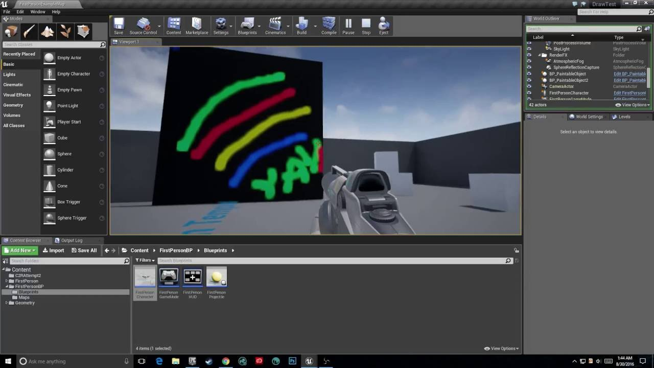 Unreal engine 4 prototyping drawing mechanic youtube unreal engine 4 prototyping drawing mechanic malvernweather Gallery