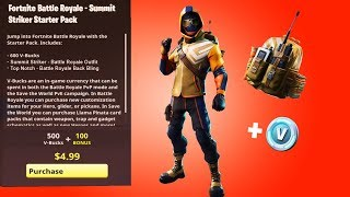 *NEW* STARTER PACK SKIN in Fortnite! (Summit Striker Starter Pack)