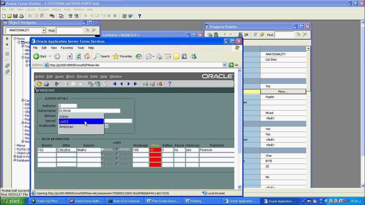 part 5-oracle 10g form builder using list item