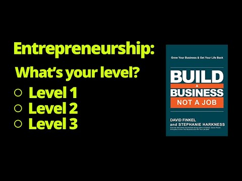 What's Your Current Business Level? | Book: Build A Business Not A Job By David Finkel