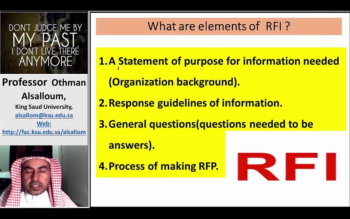 how to write rfi