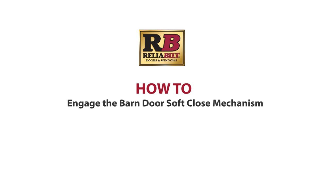 Barn Door Soft Close Setup Youtube