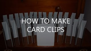 How to make custom card clips