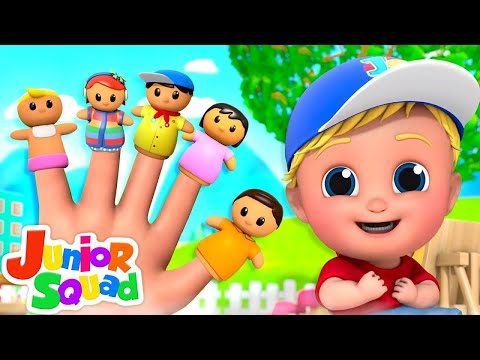 Finger Family | Five Little Babies + More Nursery Rhymes & Baby Songs | Funny Cartoon for Kids