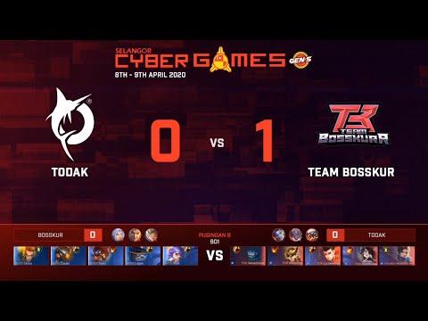 TEAM BOSSKUR VS TODAK   BEST OF 1   SELANGOR CYBER GAMES