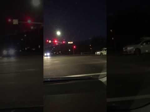 WAYMO Google car Running a red light.