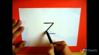 Dibuja con la letra Z - Draw with the letter Z