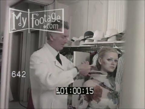 1970s Hubert de Givenchy Paris Fashion Outtakes (B) Stock Footage HD