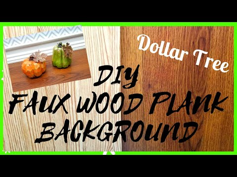 DIY DOLLAR TREE FAUX WOOD PLANK FLOOR BACKGROUND || PHOTO AND VIDEO PROP