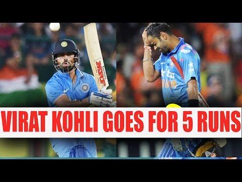 ICC Champions Trophy : Virat Kohli out for 5 runs, Pakistan makes huge dent   Oneindia News