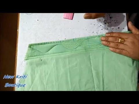 Designer Poucha Patterns For Bottom / Salwar Bottom Design Stitching