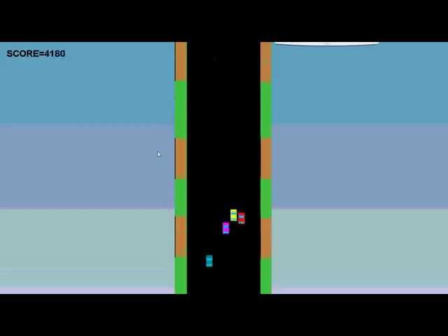 2d car racing game in java - YouTube