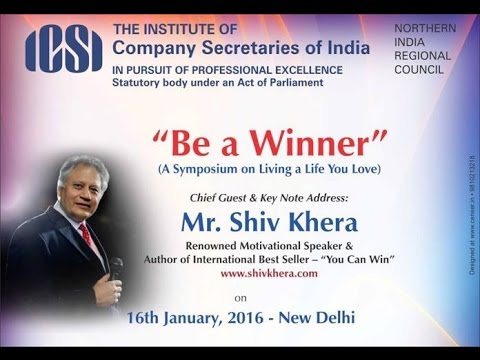 """Be a Winner""  by Mr. Shiv Khera 16th Jan 2016 Powered By NIRC"