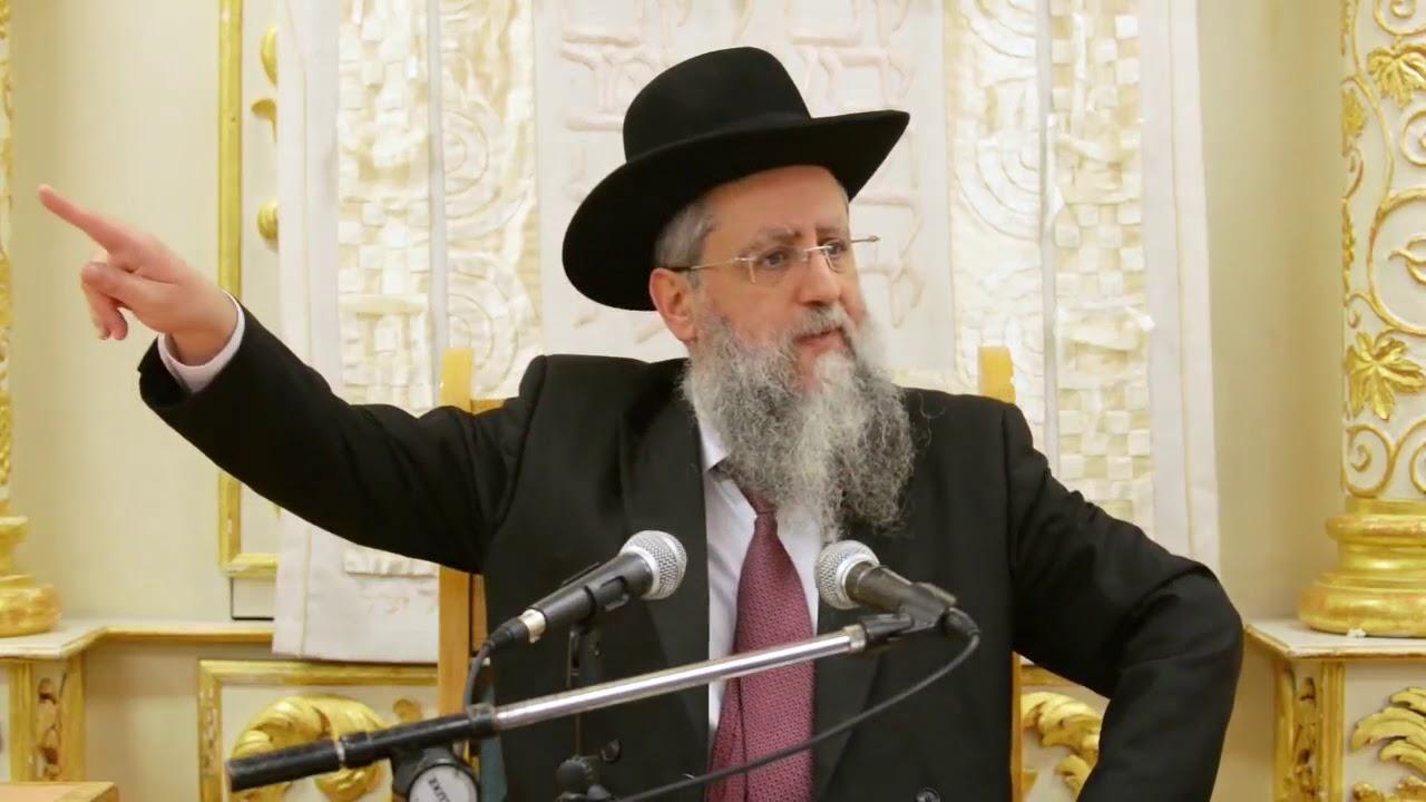 הרב דוד יוסף שליט״א בעל הלכה ברורה שיעור הלכות מוריד הגשם