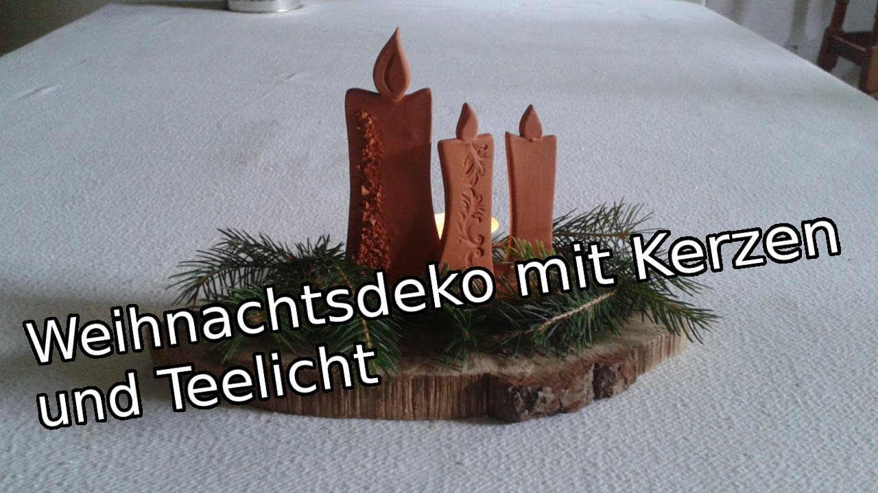 t pfern f r anf nger weihnachtsdekoration mit kerzen und teelicht diy youtube. Black Bedroom Furniture Sets. Home Design Ideas