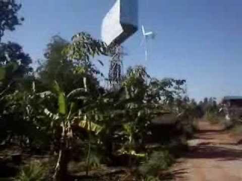Wind Turbine Vertical กังหันลมผลิตไฟฟ้าแกนตั้ง